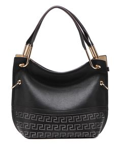 Another great find on #zulily! MKF Collection Black Greek Key Hobo by MKF Collection #zulilyfinds