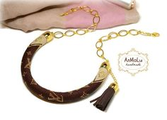 Beaded crochet necklace brown beige gold Choker от AnmaluStory