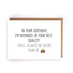 sarcastic birthday card for boyfriend, handmade greeting card, card for brother, birthday card sister, best friend birthday gifts GC139 by NirvanaDesignsGifts on Etsy
