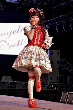 RinRin Doll in Fantasy Theatre at Angelic Pretty's 2014 fashion show at Sakura-con