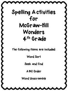 4th Grade Wonders: Unit 1 Vocabulary Inquiry and