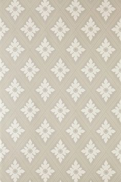 Ranelagh (BP - Farrow & Ball Wallpapers - Ranelagh features an architectural diamond trellis border with a delicate foliate motif. Showing in cream on taupe water based paints - more colours are available. Please request a sample for true colour match.