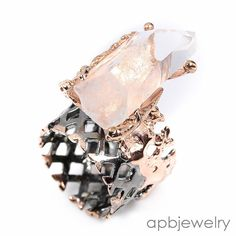 Handmade Fine Art Natural Quartz 925 Sterling Silver Ring Size 7.5/R34699 #APBJewelry #Ring