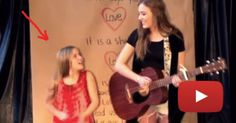 Watch The Younger Sister As They Start To Sing. Her Voice Gave Me Chills!