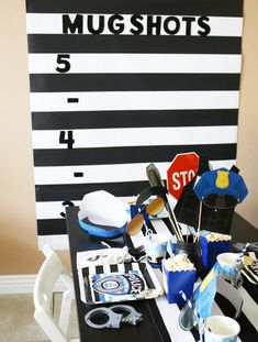 Find and shop thousands of creative projects, party planning ideas, classroom inspiration and DIY wedding projects. Police Retirement Party, Police Wedding, Retirement Party Decorations, Police Party Theme, Boy Birthday Parties, 5th Birthday, Lego City Birthday, Birthday Ideas, Baseball Birthday