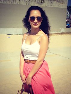 Pink Maxi at the Beach