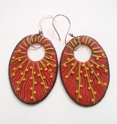 Polymer clay earrings by Shelley Atwood                                                                                                                                                                                 More
