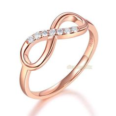 Details about women rose gold wedding band women ring ct diamond affordable fine Diamond Bands, Diamond Wedding Bands, Rose Gold Eternity Band, Emerald Ring Gold, Womens Wedding Bands, Vintage Engagement Rings, Gold Wedding, Gold Gold, Beautiful