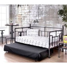 Shop for Furniture of America Herman Industrial Antique Black Metal Daybed. Get free shipping at Overstock.com - Your Online Furniture Outlet Store! Get 5% in rewards with Club O!