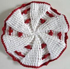 Red & White Pinwheel -free pattern