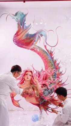 Dark Fantasy, Fantasy Art, Pretty Art, Cute Art, Mermaid Art, Anime Mermaid, Drawings Of Mermaids, Mermaid Drawings, Dragons