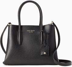 Save on the Kate Spade Eva Small Black Leather Satchel! This satchel is a top 10 member favorite on Tradesy. Kate Spade Gifts, Kate Spade Bag, Fashion Handbags, Purses And Handbags, Black Leather Satchel, Cute Bags, Embossed Logo, Accessories, Ships