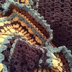 Crochet shawl #wool yarn