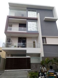 46 Trendy Ideas For House Design Exterior Simple Facades - Modern House Outside Design, House Front Design, Small House Design, Cool House Designs, Modern House Design, 3 Storey House Design, Bungalow House Design, Simple Floor Plans, Indian Home Design