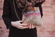 model_ teardrop. clutch. bag. woolen accessorize. от LoveMeWoolMe
