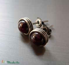 Your place to buy and sell all things handmade Survival Instinct, 50th Birthday Gifts, Aries Zodiac, Grandma Gifts, Small Gifts, Handmade Silver, Sterling Silver Earrings, Birthstones, Garnet