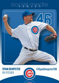 Cubs Social Media Night Ryan Dempster Baseball Card