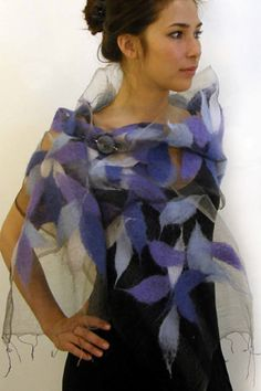 Alarte Silks catalog of nuno felt scarves by Izabela Sauer