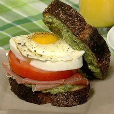 Deedra Iandoli's Sunday Eggs Caprese Breakfast Sandwich - the chew - ABC.com