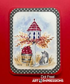 Creations by Dot J.: Cards for Kindness Ai WW July 31, 2020 Art Impressions Cards, Dots Art, Tree Stamp, Digital Clip Art, Watercolor Stamps, Watercolor Cards, Art, Copic Pens, Watercolor Design