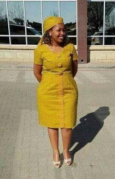 Traditional Shweshwe Dresses For 2018 ⋆ Short African Dresses, Latest African Fashion Dresses, African Print Dresses, African Print Fashion, African American Fashion, Kitenge, African Fashion Traditional, Sepedi Traditional Dresses, Shweshwe Dresses