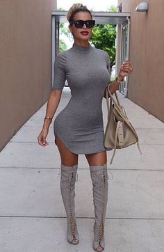 Love this dress, would totally wear different boots though.