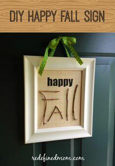 DIY Happy Fall Sign!