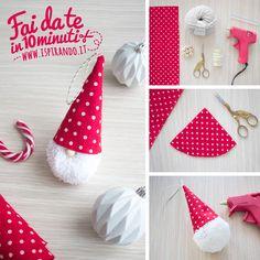 23 Clever DIY Christmas Decoration Ideas By Crafty Panda Diy Xmas Gifts, Christmas Crafts To Make, Handmade Christmas Decorations, Christmas Ornament Crafts, Christmas Gnome, Valentine Crafts, Holiday Crafts, Pom Pom Crafts, 242