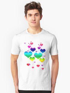 'Rainbow Hearts ' T-Shirt by Greenbaby