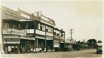 Pittwater Rd,Narrabeen in the Northern Beaches region of Sydney in 1934.