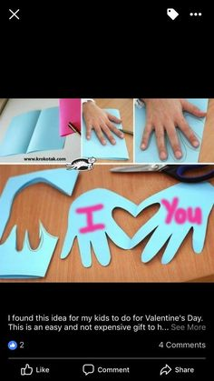 16 DIY Mothers Day Crafts for Grandma - Valentine& day crafts for kids Diy Mother's Day Crafts, Valentine's Day Crafts For Kids, Valentine Crafts For Kids, Daycare Crafts, Mother's Day Diy, Baby Crafts, Toddler Crafts, Preschool Crafts, Projects For Kids