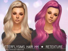 Aveira Sims 4: Butterflysims 144 hair retextured  - Sims 4 Hairs - http://sims4hairs.com/aveira-sims-4-butterflysims-144-hair-retextured/