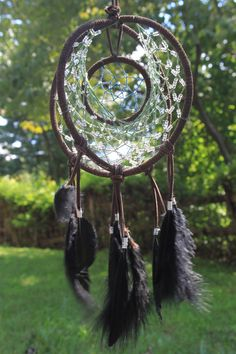 Beaded 3-Ring Dream Catcher. So cool. I want to make one like this.