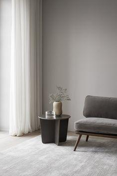 Minimal grey Scandi interior. Top ten furniture launches from Milan's Salone del Mobile 2018 - Space Copenhagen for Fredericia