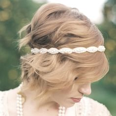 Super cute wedding head band