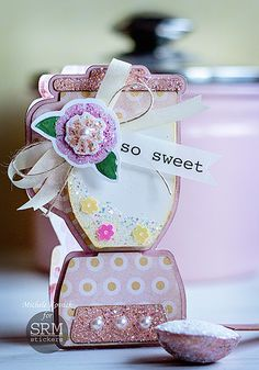 So+Sweet! - Scrapbook.com - Shaped card and lots of glitter!