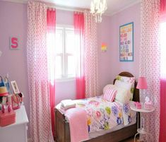 girl bedroom ideas - Your daughter will love a room filled with color, patterns, and cute accessories! Click through to find oh-so-pretty bedroom decorating ideas for girls of all ages.