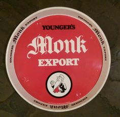 Younger's Monk Export metal serving tray . Circa 1980s
