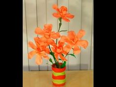 Fully Recycled DIY: How to convert waste bottles into a beautiful FLOWER VASE? - YouTube