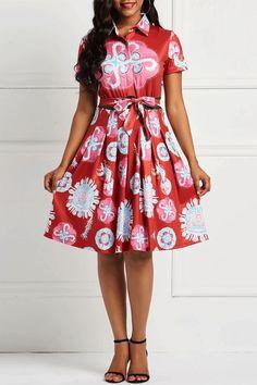 ac24e5716e2 A-Line Short Sleeve Bowknot Sweet Floral Dresses dress fashion erchic A