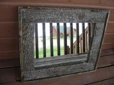 Barn Wood Frame w/ Mirror