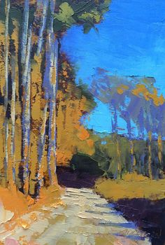Tall Pines, Winter original fine art by Mary Gilkerson