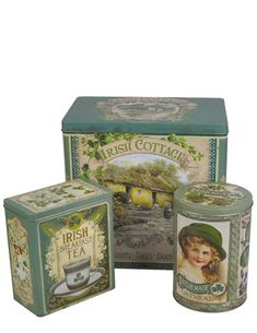 From the glinting golden interior to the vintage advertisements rendered to the outside of the tin, this collection evokes a St. Irish Breakfast Tea, Victorian Trading Company, Irish Traditions, Paddys Day, 4 H, Tins, Vintage Advertisements, Decorative Boxes, Advertising