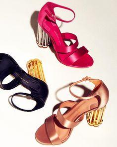 cf02acad19d Salvatore Ferragamo Women s Caged-Heel Satin Sandals - Pink