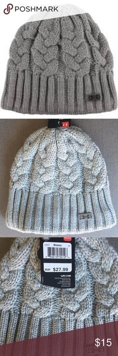 Under Armour Around Town Beanie Knit Hat Gray You will receive the exact item as pictured. First picture is a stock photo. Brand new, Tags Attached.  Under Armour Around Town Women's Beanie Knit Hat Gray   Color: Heather/Pewter Gray Designed to absorb heat and keep your head warm Under Armour Accessories Hats