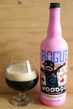 Rogue Voodoo Doughnut Beer - With hints of cocoa and bittersweet raspberry throughout.