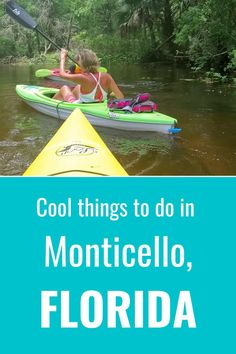 Monticello is near the Florida State Capital of Tallahassee and offers many cool things to do like kayaking, airboat rides, wildlife experiences, and great food. Check out this guide on what to do in Monticello Florida. We share our list of the best things to do and attractions to check out with kids.  #travel #florida #monticello Florida Vacation, Florida Travel, Travel Usa, Travel Tips, Travel Destinations, Monticello Florida, Airboat Rides, Road Trip Hacks, Road Trip Usa