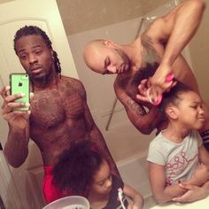 """Being fathers is getting our daughters up at 5:30am making breakfast getting them dressed for school and putting them on the bus by 6:30. This is a typical day in our household."" 