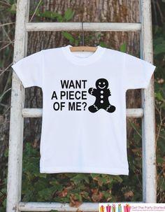 Kids Christmas Shirts - Funny Gingerbread Man Shirt - Girl or Boys Funny Christmas Onepiece or Shirt - Christmas Pajamas - Sibling Shirts