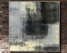 Oversize Abstract Painting On Canvas Beige Painting On Canvas Modern Painting Abstract Oil Painting On Canvas Wall Painting For Living Room Black And White Wall Art, Black And White Painting, Your Paintings, Original Paintings, Beige Art, Feuille D'or, Agate Geode, Extra Large Wall Art, Fashion Wall Art